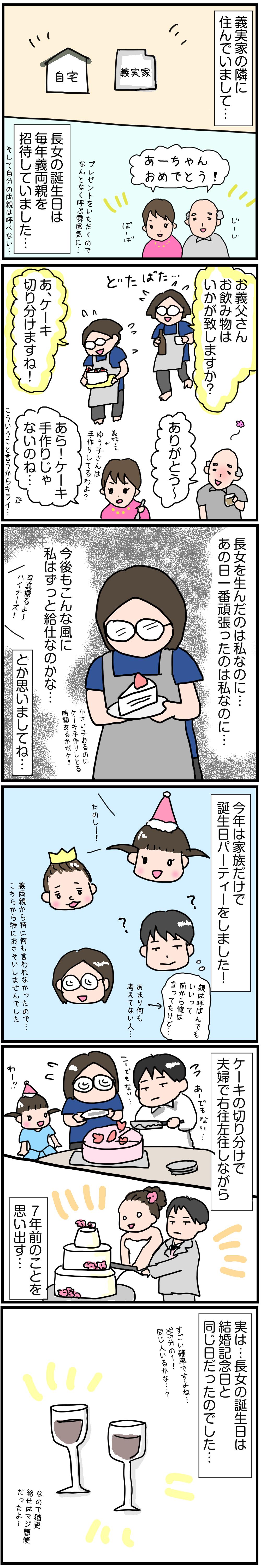 育児漫画・長女の誕生日は…